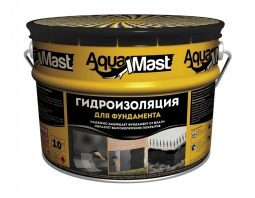 Мастика Технониколь AquaMast битумная гидроизоляционная для фундамента 10кг