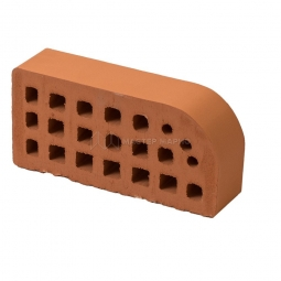 Кирпич фасонный керамический «Абрикос» пустотелый одинарный профиль Б