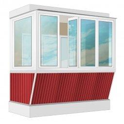 Остекление балкона ПВХ Veka с выносом и отделкой ПВХ-панелями с утеплением 2.4 м Г-образное