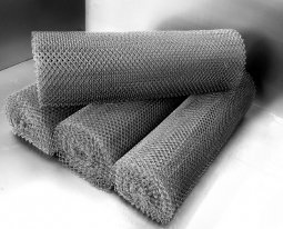 Сетка рабица d=1,4 мм, ячейка 25x25 мм, 1,5х10,0 м оцинкованная