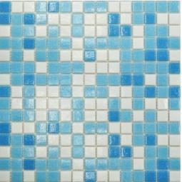 Мозаика Elada Econom на бумаге MCD002P бело-голубой на бумаге 32.7x32.7