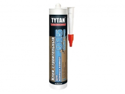 Клей строительный Tytan для ванных комнат №915 белый 440г