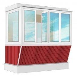 Остекление балкона ПВХ Rehau с выносом и отделкой ПВХ-панелями с утеплением 2.4 м П-образное