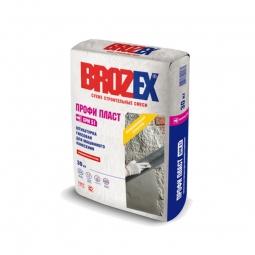 Штукатурка Brozex Профи Пласт GPM-51 гипсовая для машинного нанесения 1 кг