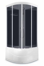 Душевая кабина Domani Spa Delight 99 high 900х900х2180 тонированное стекло, черная панель, Б/Э