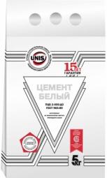 Цемент белый Unis ПЦ-500 Д0 ГК, 5 кг