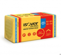 Минераловатный утеплитель Isover Мастер Теплых Крыш 1000х600х100 мм /4шт