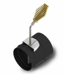 Шибер прямой экспортны Термофор 1.5мм ф120мм 08ПС антрацит