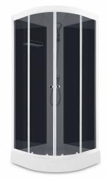 Душевая кабина Domani Spa Eko 99 900х900х2040 без крыши, тонированное стекло, черная панель, Б/Э