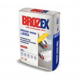 Наливной пол Brozex Нивелир Финал NF-420 на цементной основе финишный 20 кг