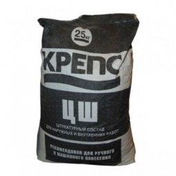 Штукатурка Крепс ЦШ цементная 25 кг