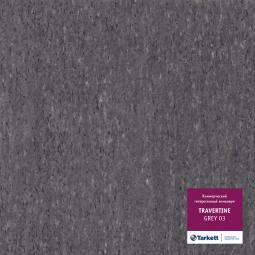 Линолеум коммерческий гетерогенный Tarkett Travertine Grey 3 3 м рулон