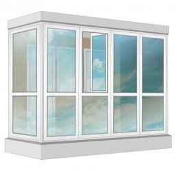 Остекление балкона ПВХ Veka в пол с отделкой ПВХ-панелями с утеплением 3.2 м Г-образное