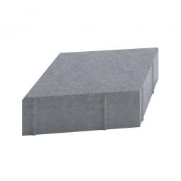 Плитка тротуарная Ромб Гладкий Вибролитая 190х330х50 Серая